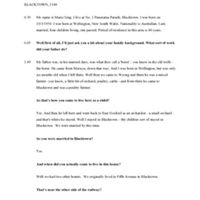 Transcript of interview with Marie Sing