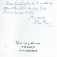 Western Sydney Women's Oral History Project: Thank-you note from Olive Price
