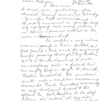 Western Sydney Women's Oral History Project: Letter from Mavis Lamrock