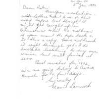 Western Sydney Women's Oral History Project: Second letter from Mavis Lamrock