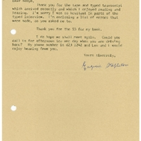 Western Sydney Women's Oral History Project: Letter from Eugenie Stapleton