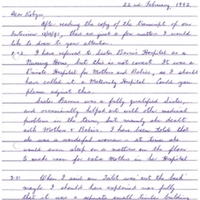 Western Sydney Women's Oral History Project: Letter from Winsome Phillis